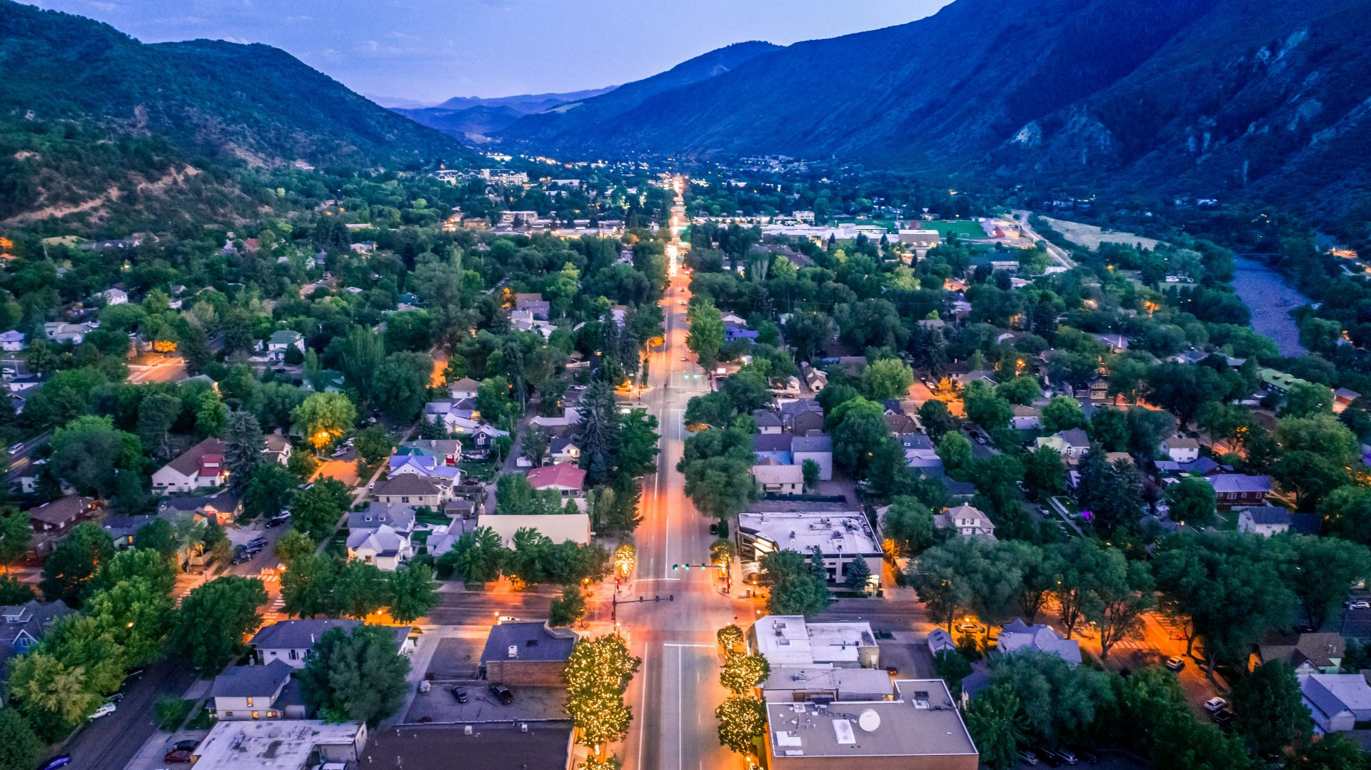 Glenwood Springs overhead view
