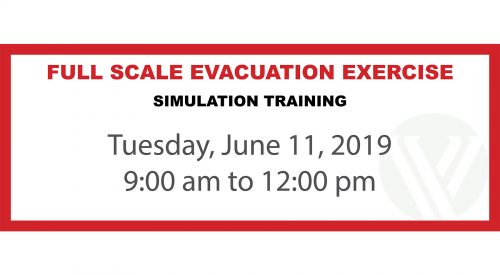 Full Scale Evacuation Exercise event
