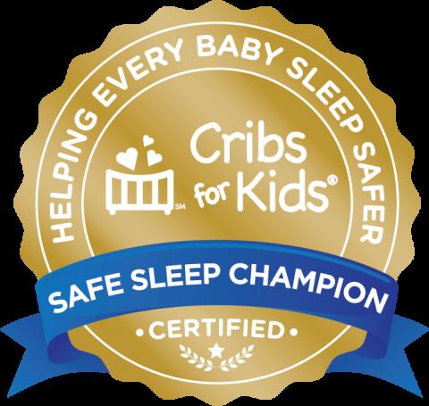 Cribs for Kids Safe Sleep Champion badge