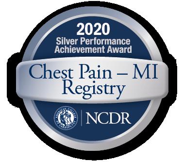 Chest Pain - MI Registry Achievement Award badge