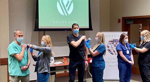 Vaccines being administered at Valley View