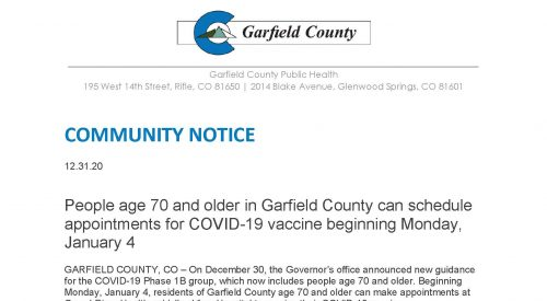 Garfield county community notice